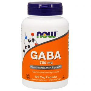 GABA, 750 mg, 100 Veg Capsules (Now Foods)