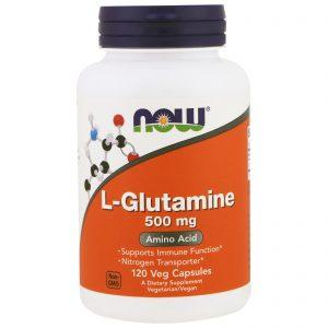 L-Glutamine, 500 mg, 120 Veg Capsules (Now Foods)