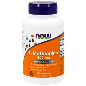 L-Methionine, 500 mg, 100 Capsules (Now Foods)