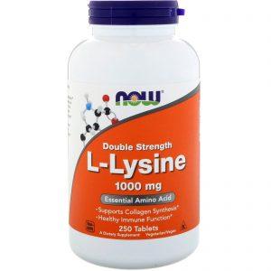 L-Lysine, 1000 mg, 250 Tablets (Now Foods)