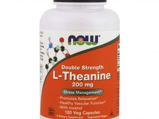 L-Theanine, Double Strength, 200 mg, 120 Veg Capsules (Now Foods)