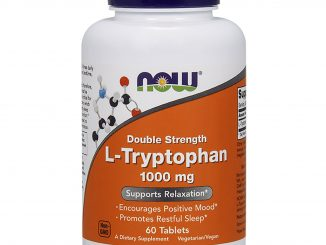 L-Tryptophan, Double Strength, 1,000 mg, 60 Tablets (Now Foods)