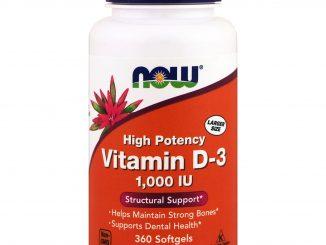 Vitamin D-3 High Potency, 1,000 IU, 360 Softgels (Now Foods)