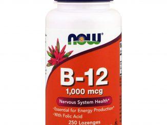 B-12, 1,000 mcg, 250 Lozenges (Now Foods)