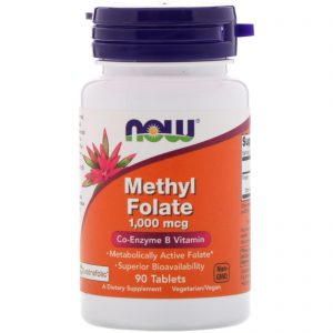 Methyl Folate, 1,000 mcg, 90 Tablets (Now Foods)