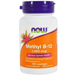 Methyl B-12, 1,000 mcg, 100 Lozenges (Now Foods)