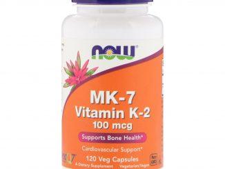MK-7 Vitamin K-2 , 100 mcg, 120 Veg Capsules (Now Foods)