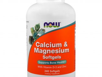 Calcium & Magnesium, with Vitamin D-3 and Zinc, 240 Softgels (Now Foods)