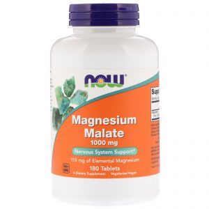 Magnesium Malate, 1,000 mg, 180 Tablets (Now Foods)