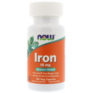 Iron, 18 mg, 120 Veg Capsules (Now Foods)