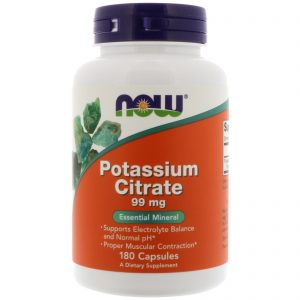 Potassium Citrate, 99 mg, 180 Capsules (Now Foods)