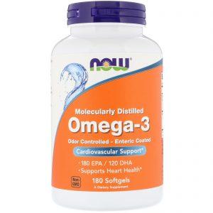 Omega-3, 180 Softgels (Now Foods)