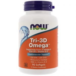 Tri-3D Omega, 330 EPA/220 DHA, 90 Softgels (Now Foods)