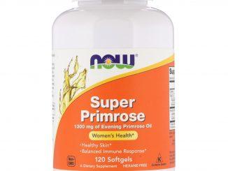 Super Primrose, Evening Primrose Oil, 1300 mg, 120 Softgels (Now Foods)