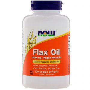 Flax Oil, 1000 mg, 120 Veggie Softgels (Now Foods)