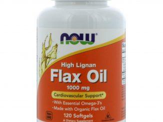 High Lignan Flax Oil, 1,000 mg, 120 Softgels (Now Foods)