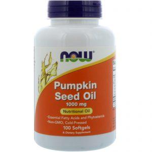 Pumpkin Seed Oil, 1000 mg, 100 Softgels (Now Foods)