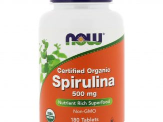 Certified Organic Spirulina, 500 mg, 180 Tablets (Now Foods)