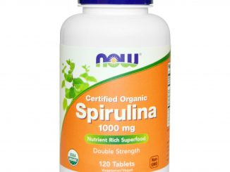 Certified Organic, Spirulina, 1000 mg, 120 Tablets (Now Foods)