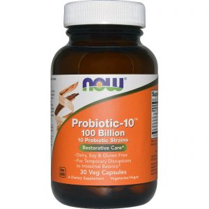 Probiotic-10, 100 Billion, 30 Veg Capsules (Now Foods)