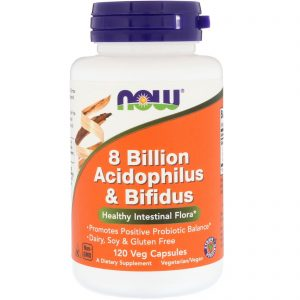 8 Billion Acidophilus & Bifidus, 120 Veg Capsules (Now Foods)