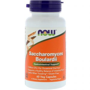Saccharomyces Boulardii, Gastrointestinal Support, 60 Veg Capsules (Now Foods)