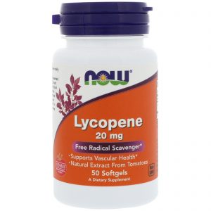 Lycopene, 20 mg, 50 Softgels (Now Foods)