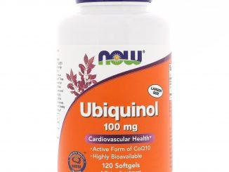 Ubiquinol, 100 mg, 120 Softgels (Now Foods)