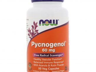 Pycnogenol, 60 mg, 50 Veg Capsules (Now Foods)