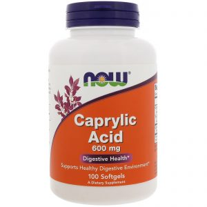 Caprylic Acid, 600 mg, 100 Softgels (Now Foods)