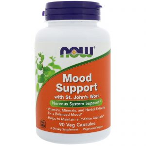 Mood Support with St. John's Wort, 90 Veg Capsules (Now Foods)