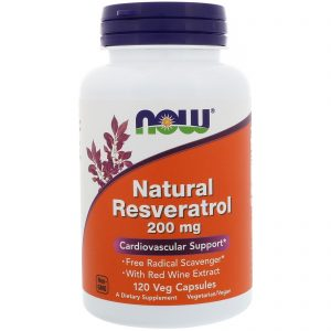 Natural Resveratrol, 200 mg, 120 Veg Capsules (Now Foods)