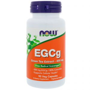 EGCg, Green Tea Extract, 400 mg, 90 Veg Capsules (Now Foods)