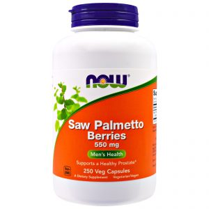 Saw Palmetto Berries, 550 mg, 250 Veg Capsules (Now Foods)