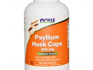 Psyllium Husk Caps, 500 mg, 500 Veggie Caps (Now Foods)