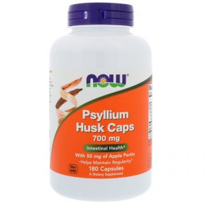 Psyllium Husk Caps, 700 mg, 180 Capsules (Now Foods)