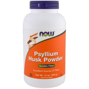 Psyllium Husk Powder (Plantago Ovata), 12 oz (340 g) (Now Foods)