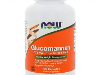 Glucomannan, 575 mg, 180 Capsules (Now Foods)