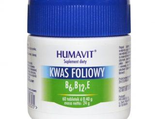 Humavit, Kwas Foliowy, B6, B12, E, tabletki, 60 szt / (Varia)