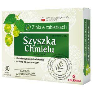 Szyszka chmielu, tabletki powlekane, 30 szt. / (Colfarm)