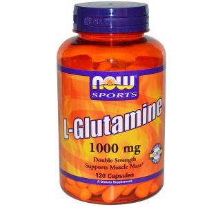 Sports, L-Glutamine, Double Strength, 1,000 mg, 120 Capsules (Now Foods)