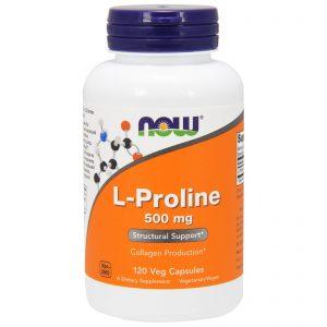L-Proline, 500 mg, 120 Veg Capsules (Now Foods)