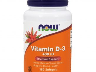 Vitamin D-3, 400 IU, 180 Softgels (Now Foods)