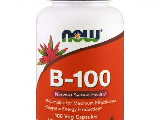 B-100, 100 Veg Capsules (Now Foods)