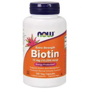 Biotin,, 10,000 mcg, 120 Veg Capsules (Now Foods)