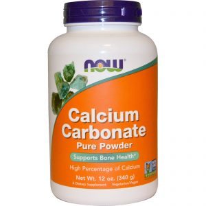 Calcium Carbonate Powder, 12 oz (340 g) (Now Foods)