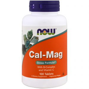 Cal-Mag, Stress Formula, 100 Tablets (Now Foods)