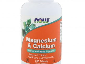 Magnesium & Calcium, Reverse 2:1 Ratio with Zinc and Vitamin D-3 250 Tablets (Now Foods)