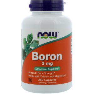 Boron, 3 mg, 250 Capsules (Now Foods)