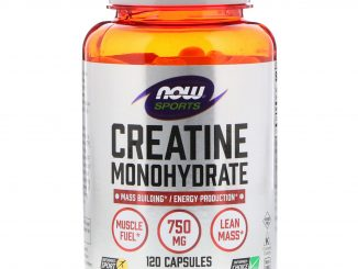 Sports, Creatine Monohydrate, 750 mg, 120 Capsules (Now Foods)